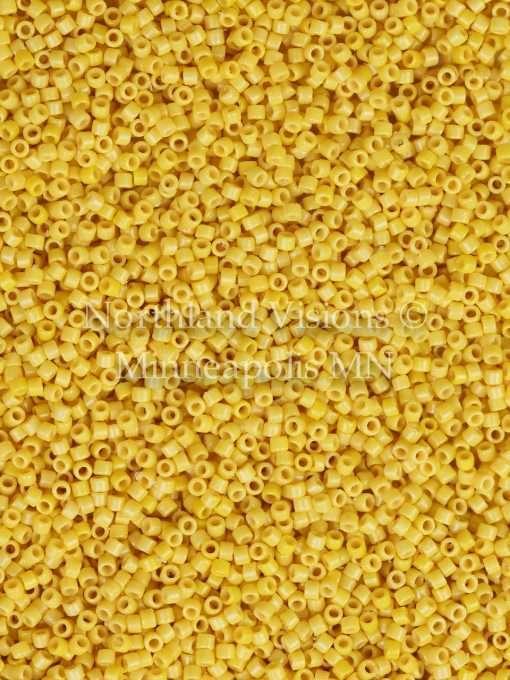 Miyuki Delica Cylinder Bead, DB2102, Duracoat Opaque Banana, 11/0 7 grams