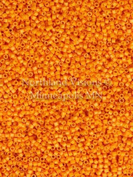 Miyuki Delica Cylinder Bead, DB2104, Duracoat Opaque Kumquat, 11/0 7 grams