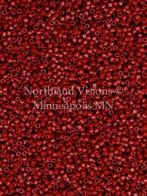 Miyuki Delica Cylinder Bead, DB2119, Duracoat Opaque Brick Red, 11/0 7 grams