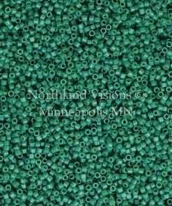 Miyuki Delica Cylinder Bead, DB2127, Duracoat Opaque Spruce Green, 11/0 7 grams