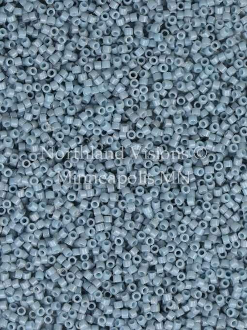 Miyuki Delica Cylinder Bead, DB2129, Duracoat Opaque Moody Blue, 11/0 7 grams