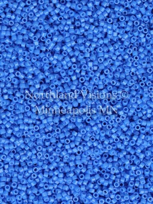 Miyuki Delica Cylinder Bead, DB2134, Duracoat Opaque Delphinium Blue, 11/0 7 grams
