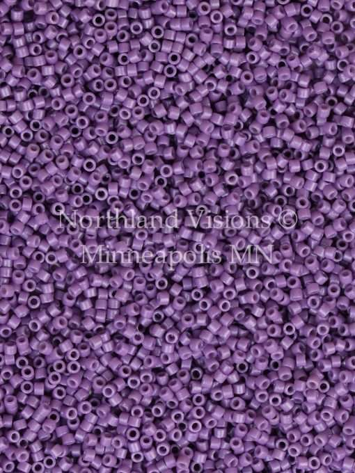 Miyuki Delica Cylinder Bead, DB2139, Duracoat Opaque Dark Orchid, 11/0 7 grams