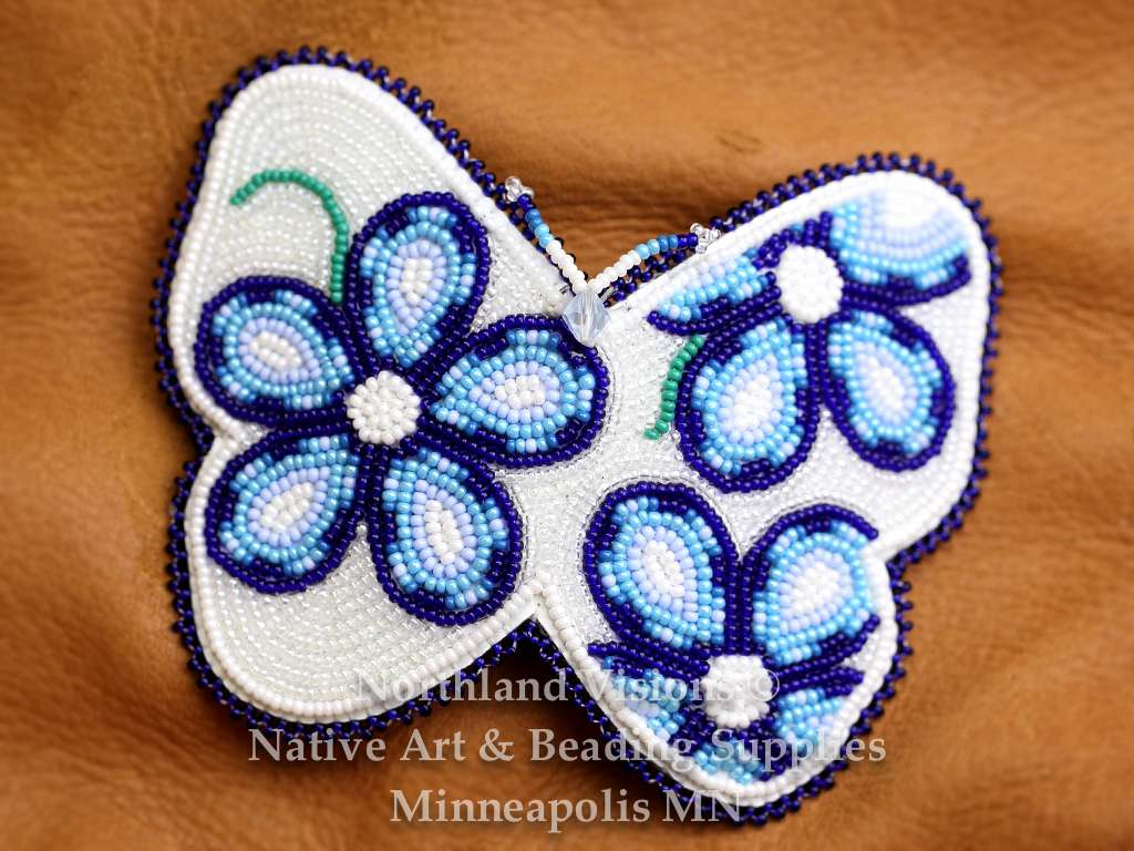 Butterfly Barrette Floral Design Blue Northland Visions