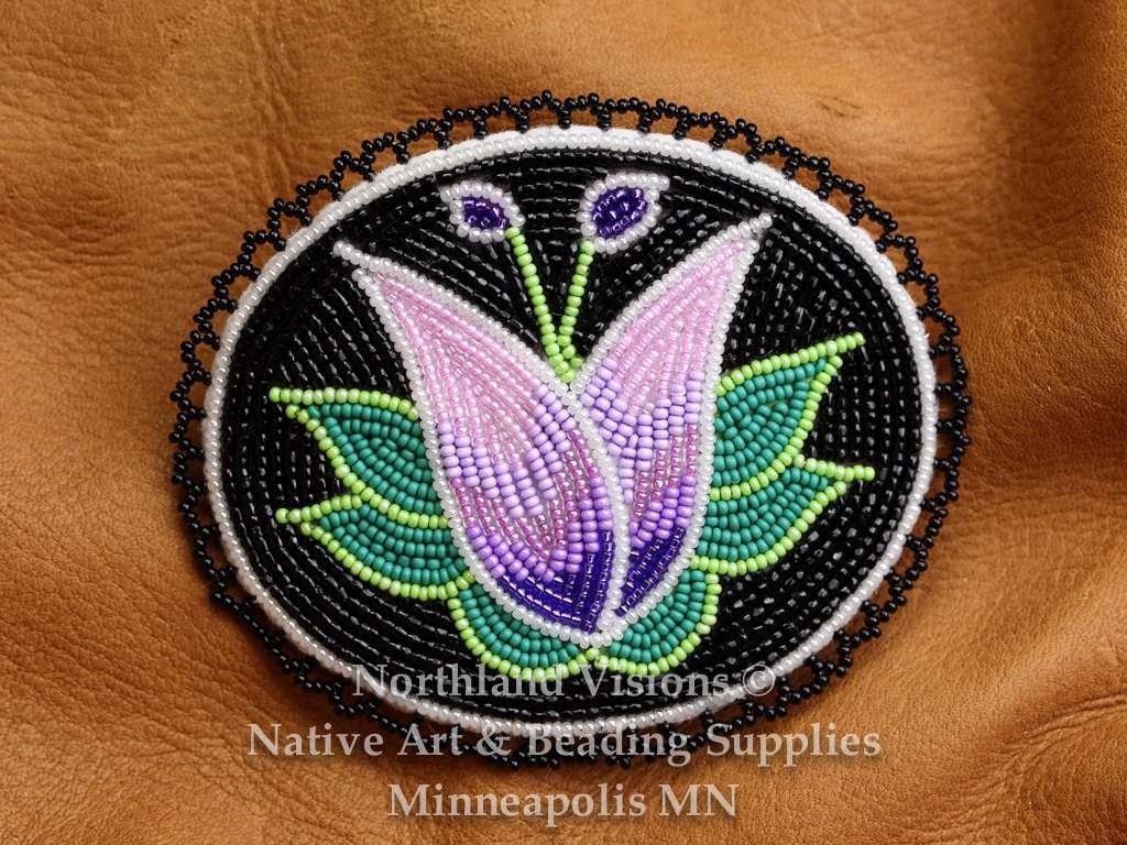 Ojibwe Floral Oval Barrette Northland Visions