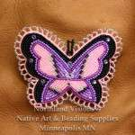 12683-Beaded-Hair-Barret-seed-bead-butterfly-Ojibwe-woodlands-beadwork