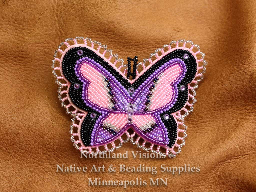 Butterfly Barrette Purple & Black - Northland Visions