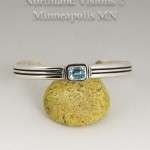 14006-Blue-Topaz-Silver-bracelet-Contemporary-jewelry-native-american-hand-made
