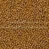Japanese Seed Bead, Miyuki 11-D4203, Duracoat Galvanized Dark Gold, 11/0 30 grams