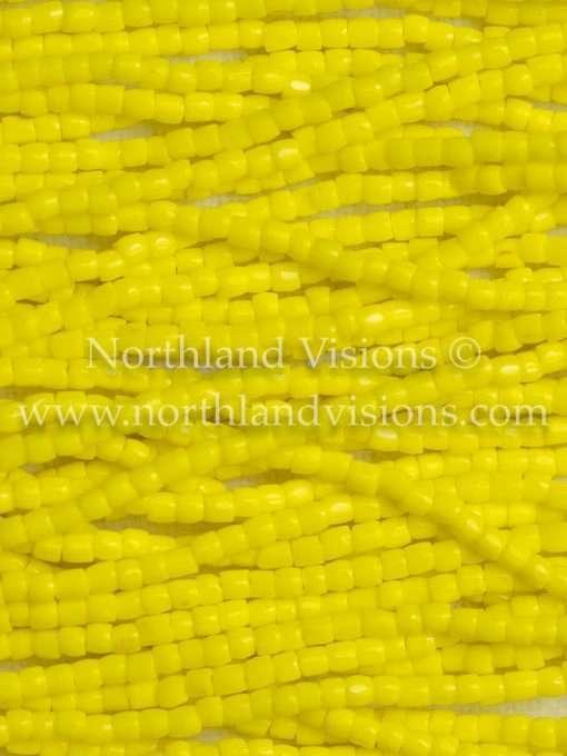 Czech 3-Cut Seed Bead, Preciosa® Ornela 83110, Opaque Yellow, 9/0 1 Hank