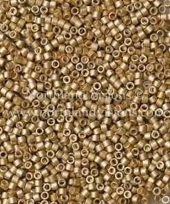 Miyuki Delica Cylinder Bead, DB1153, Galvanized Mead Matte, 11/0 7 grams