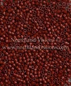 Miyuki Delica Cylinder Bead, DB2120, Duracoat Opaque Maroon, 11/0 7 grams