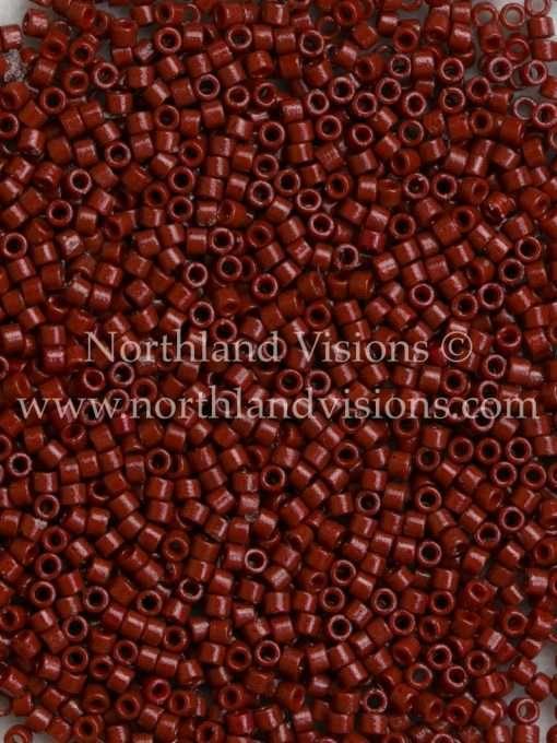 Miyuki Delica Cylinder/Seed Bead, DB2120, Duracoat Opaque Maroon, 11/0 7 grams