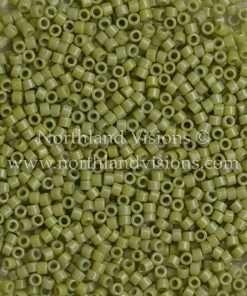 Miyuki Delica Cylinder Bead, DB2124, Duracoat Opaque Cactus, 11/0 7 grams