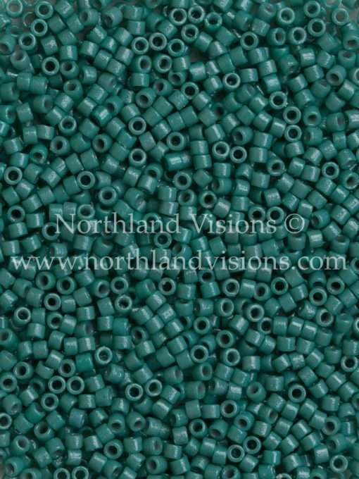Miyuki Delica Cylinder Bead, DB2131, Duracoat Opaque Eucalyptus, 11/0 7 grams