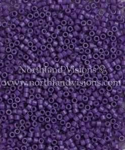 Miyuki Delica Cylinder Bead, DB2140, Duracoat Opaque Grape, 11/0 7 grams