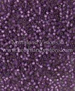 Miyuki Delica Cylinder Bead, DB2182, Transparent Duracoat Alabaster Lilac Purple Silver Lined, 11/0 7 grams
