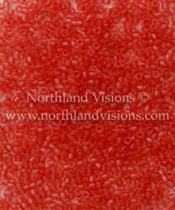 Miyuki Delica Cylinder Bead, DB0779, Transparent Strawberry Matte, 11/0 7 grams