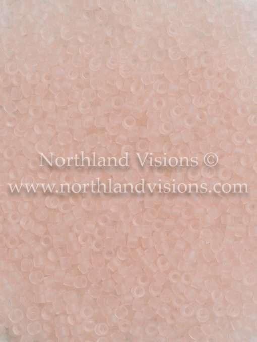 Miyuki Delica Cylinder Bead, DB1263, Transparent Pink Mist Matte, 11/0 7 grams