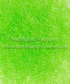 Miyuki Delica Cylinder Bead, DB1266, Transparent Lime Green Matte, 11/0 7 grams