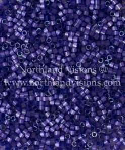 Miyuki Delica Cylinder Bead, DB1810, Silk Satin Purple, 11/0 7 grams