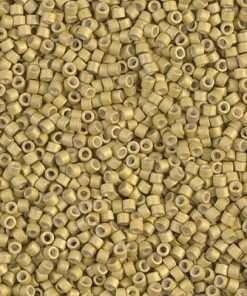 Miyuki Delica Cylinder Bead, DB1164, Galvanized Zest Matte, 11/0 7 grams