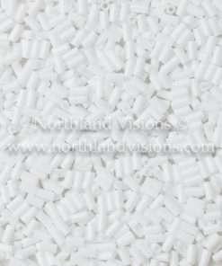 Japanese Bugle Bead, Miyuki BGL1-9049, Opaque Chalk White, 3mm 10 grams