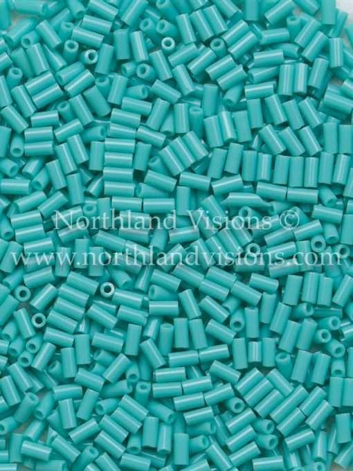 Japanese Bugle Bead, Miyuki BGL1-9412, Opaque Turquoise Green, 3mm 10 grams