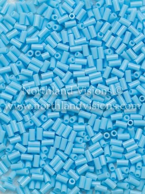 Japanese Bugle Bead, Miyuki BGL1-9413, Opaque Turquoise Blue, 3mm 10 grams