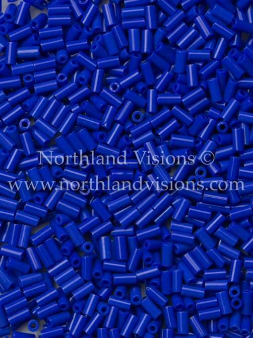 Japanese Bugle Bead, Miyuki BGL1-9414, Opaque Cobalt Blue, 3mm 10 grams