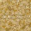 Japanese Bugle Bead, Miyuki BGL1-9003, Transparent Gold Silver Lined, 3mm 10 grams