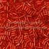 Japanese Bugle Bead, Miyuki BGL1-9043, Transparent Red Silver Lined, 3mm 10 grams