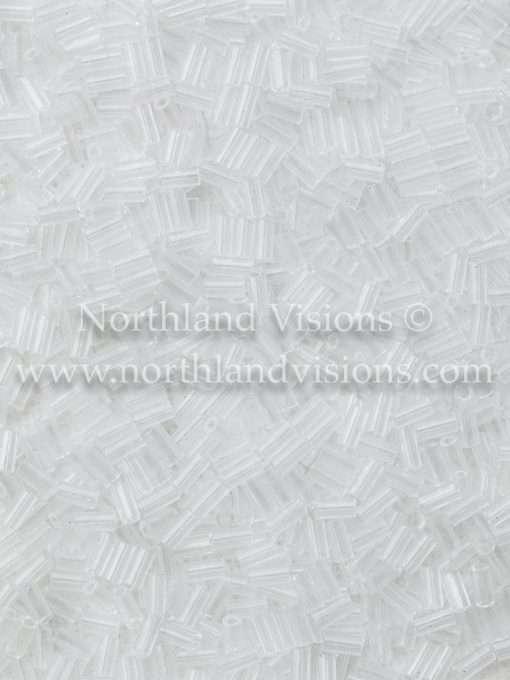 Japanese Bugle Bead, Miyuki BGL1-9131, Transparent Crystal, 3mm 10 grams