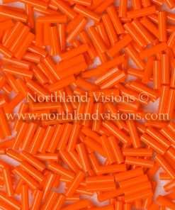 Japanese Bugle Bead, Miyuki BGL2-9406, Opaque Orange, 6mm 10 grams