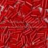 Japanese Bugle Bead, Miyuki BGL2-9408, Opaque Red, 6mm 10 grams