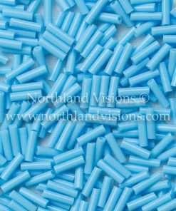 Japanese Bugle Bead, Miyuki BGL2-9413, Opaque Turquoise Blue, 6mm 10 grams