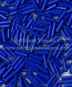 Japanese Bugle Bead, Miyuki BGL2-9414, Opaque Cobalt Blue, 6mm 10 grams