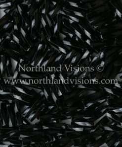 Japanese Bugle Bead, Miyuki TW206-401, Twisted Opaque Black, 6mm 10 grams