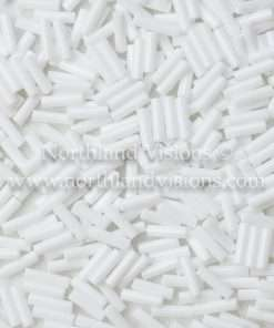 Japanese Bugle Bead, Miyuki BGL2-9049, Opaque White, 6mm 10 grams
