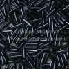 Japanese Bugle Bead, Miyuki BGL2-9083, Opaque Gunmetal, 6mm 10 grams