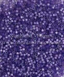 Miyuki Delica Cylinder Bead, DB1809, Silk Satin Lilac Purple, 11/0 7 grams