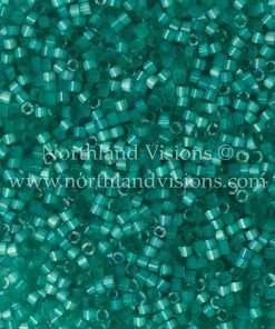 Miyuki Delica Cylinder Bead, DB1813, Silk Satin Aqua Green, 11/0 7 grams