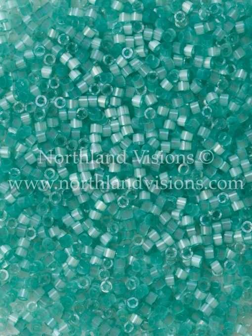 Miyuki Delica Cylinder Bead, DB1812, Silk Satin Light Aqua Green, 11/0 7 grams