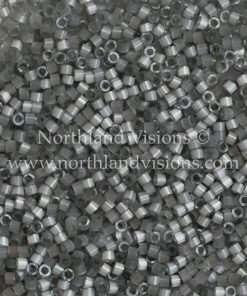 Miyuki Delica Cylinder Bead, DB1817, Silk Satin Smoke Grey, 11/0 7 grams