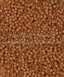 Miyuki Delica Cylinder Bead, DB2107, Duracoat Opaque Cedar, 11/0 7 grams
