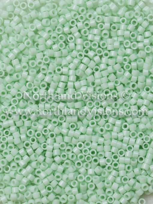 Miyuki Delica Cylinder Bead, DB1496, Opaque Light Mint Green, 11/0 7 grams