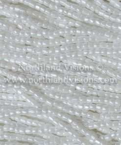 Czech 3 Cut Seed Bead, Opaque White Luster, Loose, 9/0 30 grams