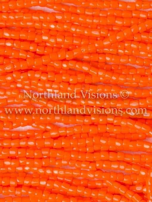 Czech 3-Cut Seed Bead, Preciosa® Ornela 93140, Opaque Orange, 9/0 1 Hank