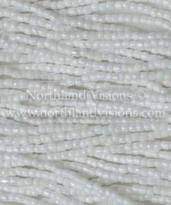 Czech 3 Cut Seed Beads, Opaque White Luster AB (Loose) 9/0 30 grams