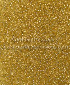 Japanese Seed Bead, Matsuno 11-3, Transparent Light Amber Silver Lined, 11/0 30 grams